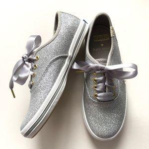 Keds + Kate Spade champion glitter sneaker sz 13